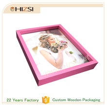 Custom size Natural Wood Frame Photo with Acrylic