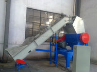 plastic recycling line crusher