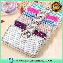 Low price phone accessories crystal leather wallet case for iphone 5c stand flip cover with card holder