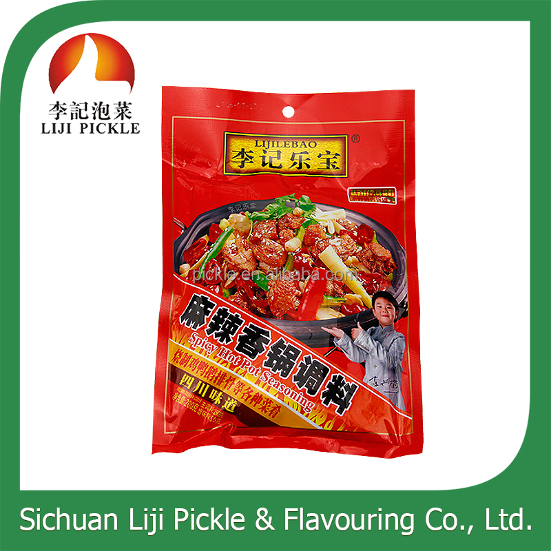 Chinese spicy flavor condiment ,delicious hot pot base seasoning with pickle