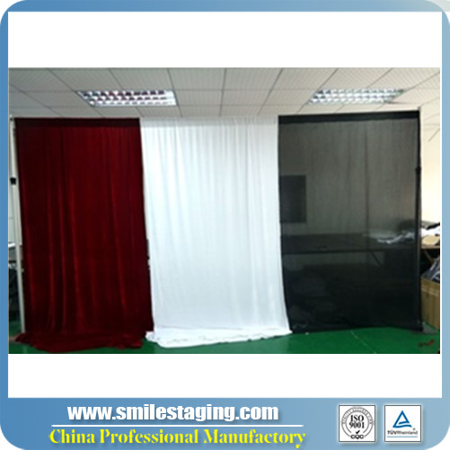China wholesale pipe and drape wedding backdrop stand wedding stage decoration wall drapes for party