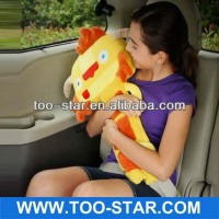 cartoon comfortable lint car seat belt cover pillow shoulder pad,good promotional gift