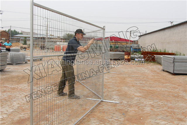 color powder coated temporary fencing