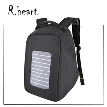 Business Laptop Backpack,Solar Powered Backpack with USB Charging Port 5.3 W Solar Panel Waterproof Oxford Travel Backpack