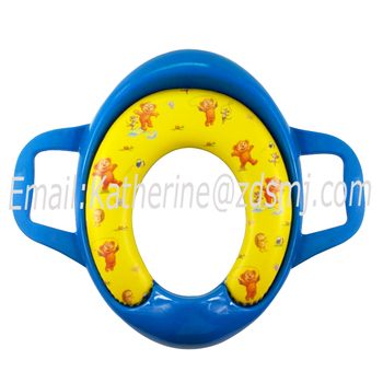 Children soft paded potty training toilet seat with handle