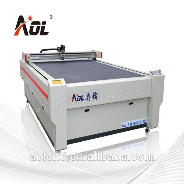 AOL round knife cloth cutting machine cnc leathercutting machine