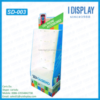 cell phone accessories display unit , floor standing mobile phone accessories hanging racks