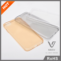 Aqua Serie Simple Design Clear TPU Mobile Phone Blank Case for iPhone6