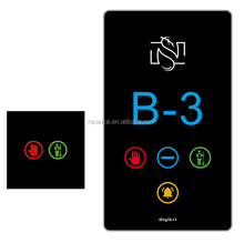 12V DC or 220V Electronic Hotel Room Number Sign Room DND MUR Doorplate with Doorbell