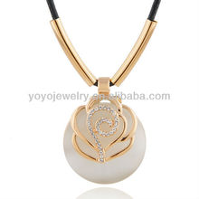N297 Hot sale national style necklace latest design alloy necklace natural opal necklace