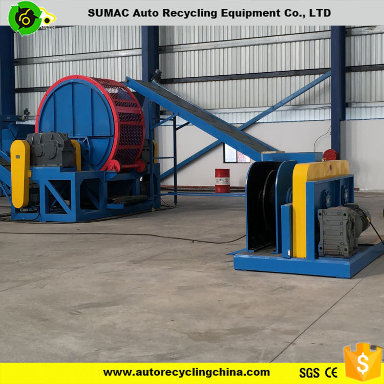 low noise scrap tyre recycling plant for rubber powders