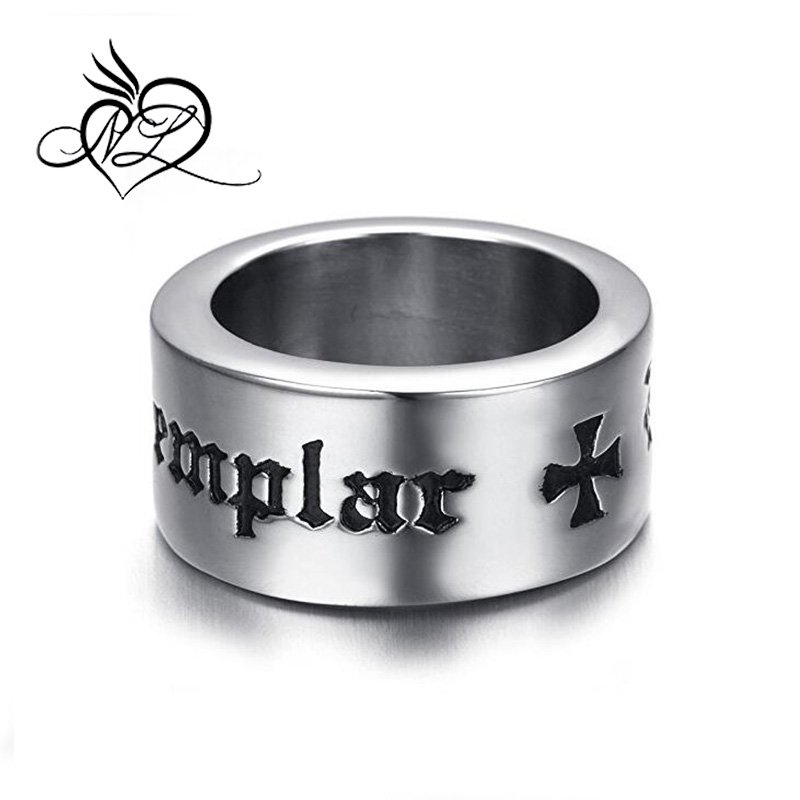 Mens Stainless Steel Ring, Biker, Silver, Knights & Templar