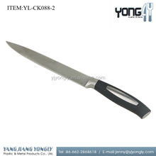 Stainless steel electric meat cutting knife with soft TPR handle