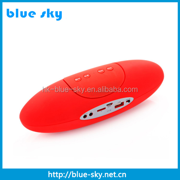low price electric rugby shape bluetooth speaker