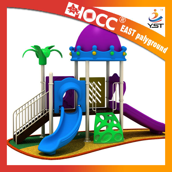 Plastic slide playset of optional components with LLDPE material