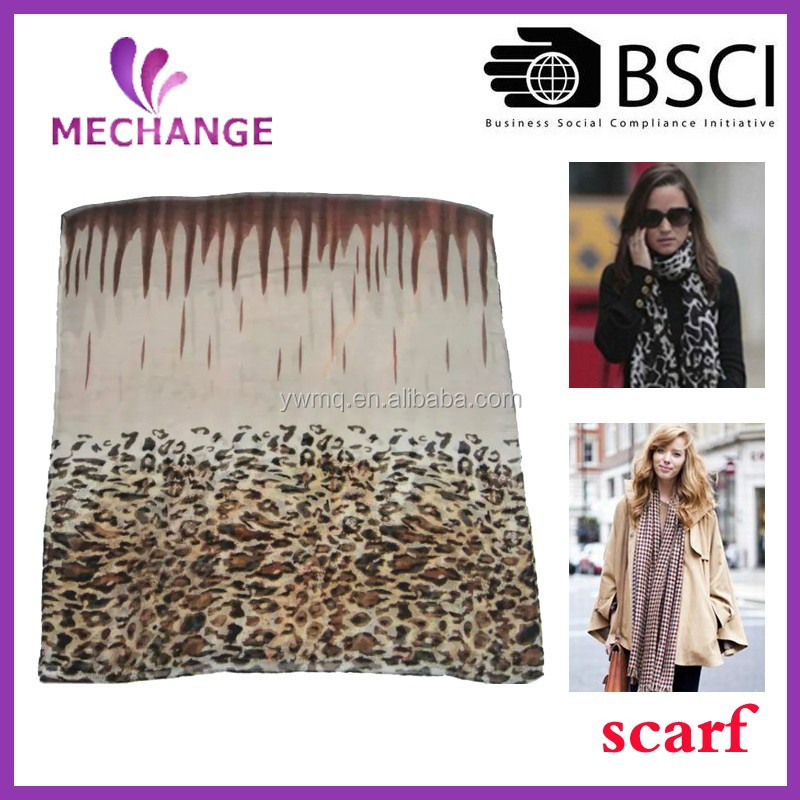 2015 Fashion colorful leopard printing wholesale scarf shawl