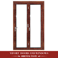 Aluminum single main door design kitchen single swing glass door