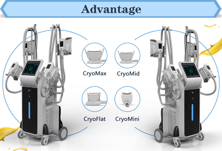 New product 4 cryo handles fat freezing slimming equipment weight loss cryolipolysis slimming machine
