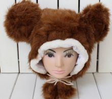 Fuzzy Fur Animal Hat Ear Flap Winter Hat