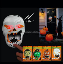 Halloween haunted house decoration spooky skull doorbell with music