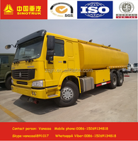 China Howo 8*4 fuel tanker truck capacity fuel tank truck hot sale oil trucks heavy transport vehicles