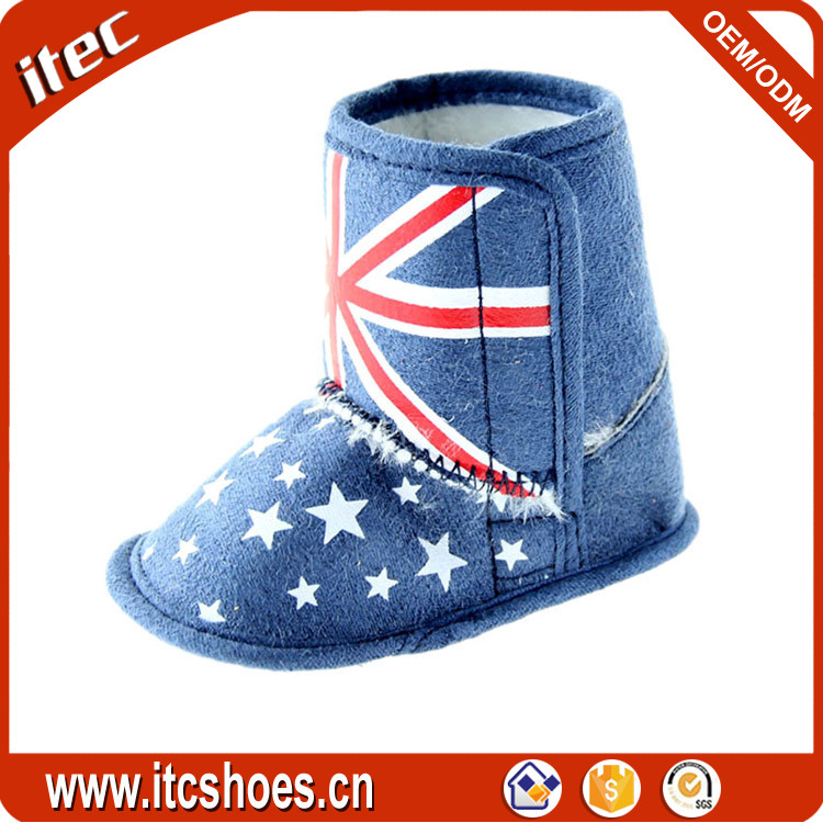Fashion western style outdoor booties snow baby animal boots for OEM