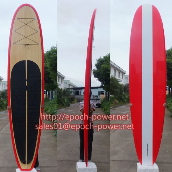 Epoxy Stand Up Wood Bamboo Paddle Surftboard Boards Factory Supplier in China