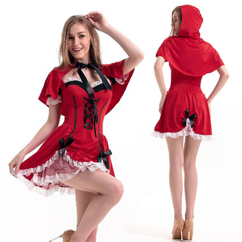 2017 High Quality Adult Halloween Costume Little Red Riding Hood ...