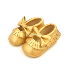 2016 New design bowknot tassel soft bottom shoes wholesale fashion moccasins shoes baby