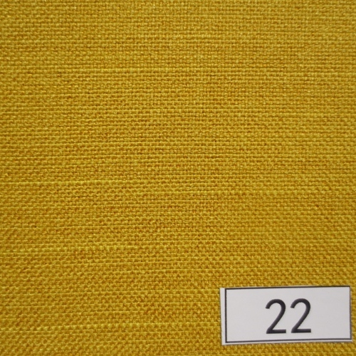 Yellow slubbed polyester curtain upholstery fabric