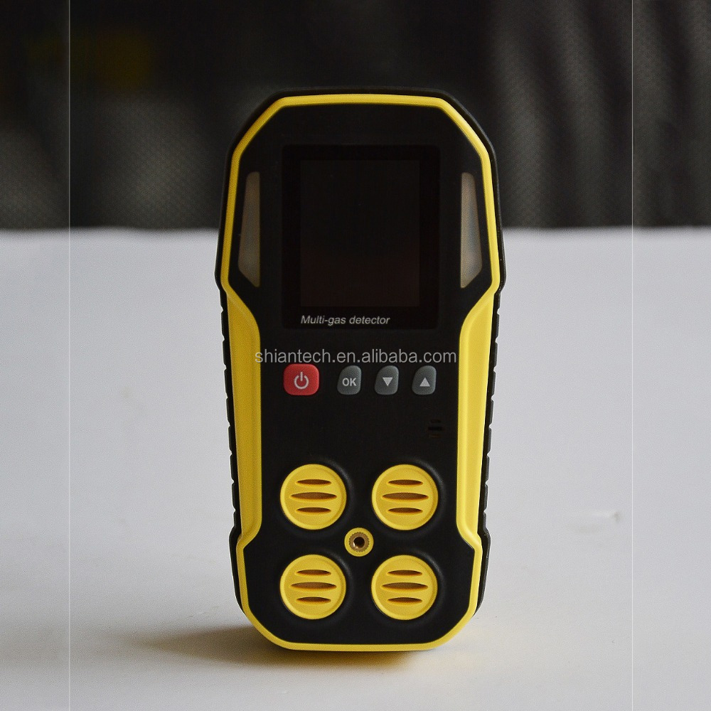 Portable Multi-5 gas detecting alarm for CO, H2S, CH4, <strong>O2</strong> and CO2 with data logging function