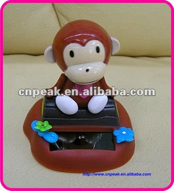 Shopping websites hot selling Solar nodding monkey toy solar panel Flip Flap