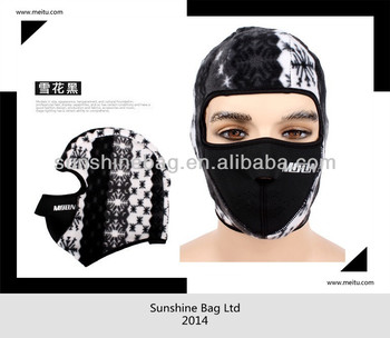 2013 hot selling neoprene face mask with customized logo
