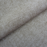 brushed bonded cationic polyester imitation cotton linen fabric for curtain sofa