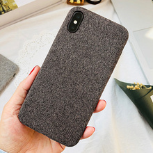 Fashion Ultra-thin Soft Fabric Mobile Cover for iPhone X 8 7 6 6s Plus Leather Phone Case
