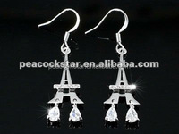Eiffel Tower Earrings use Austrian Crystal CSE254
