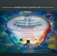 solar rechargeable floating led pool light