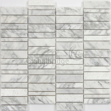 2017 new design strip wall decoration white carrara marble tile