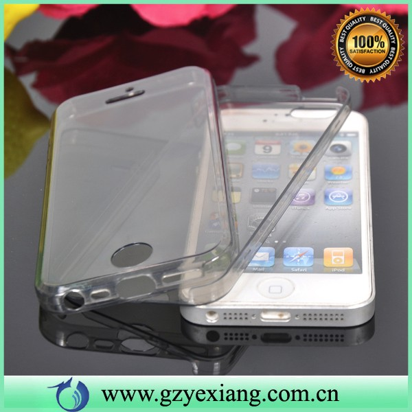 for apple iphone 4 full body tpu cover soft case front and back protective phone case for iphone 4