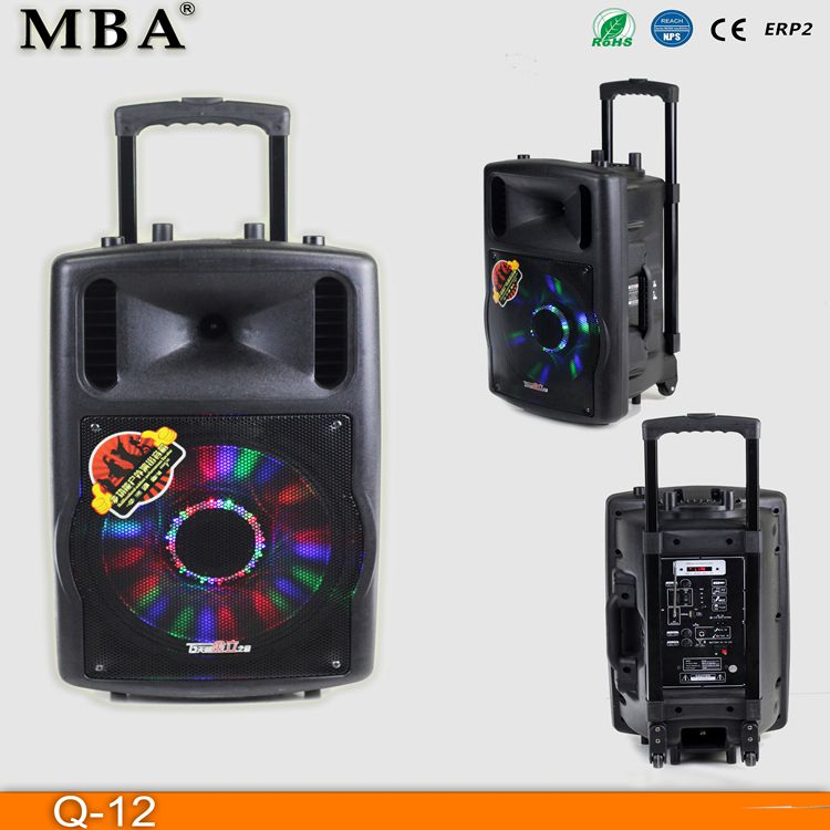 CSS Show Bluetooth New innovative products 2015 passive/active 12 Inch speaker with low noise and disco light