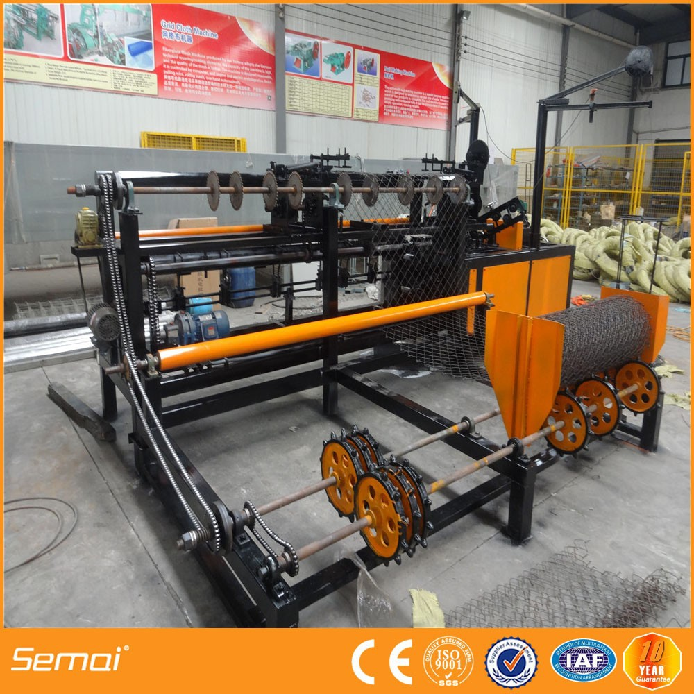 Animal cage wire fence/enclosure chain link fence making machine