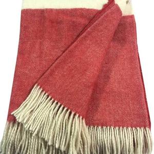 Wholesale alpaca cashmere chunky yarn woven warm super soft plaid throw sofa picnic pure 100 Australian meino baby wool blankets