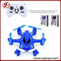 Tiny Model 2.4GHz China Hexacopter 6CH Aircrafts ABS Mini Quadcopter 6 Axis Drone Toy With Night Lights