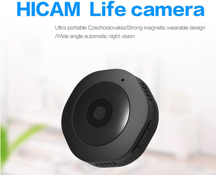HD1080p baby monitor mini wireless wifi video hidden pinhole  candid ip camera