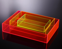 Custom colored acrylic towel tray plexiglass serving tray storage tray
