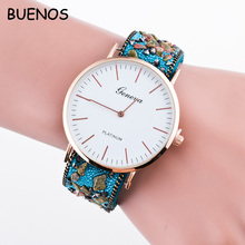 2016 Geneva New Style Ladies Simple Face Stone Leather Quartz Watch for Student