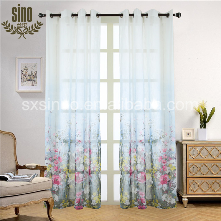 China manufacturer durable coloured voile curtains