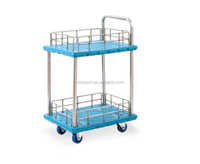 Double ties plastic handling carts for shopping