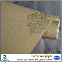 Good price pvc material modern hotel wallpaper