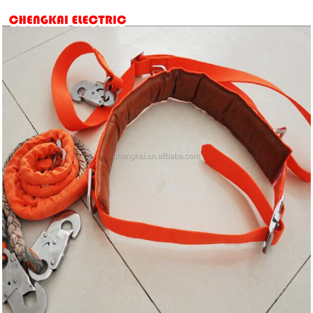 China ISO safety harness double hook